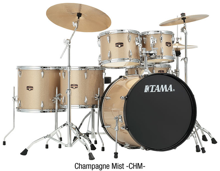 Tama IP58H6N-CHM Imperialstar Series 5pc Acoustic Drum Kit (18 10 12 14 13  Inch)
