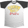 Green Day Dookie Mens Short Sleeve Raglan Black & White T-Shirt (Medium)