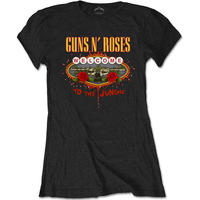 Guns N' Roses Welcome to the Jungle Las Vegas Sign Ladies Black T-Shirt (Small)