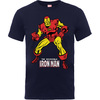 Iron Man Pose Boys Navy T-Shirt (12 - 13 Years)