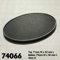 Reaper Miniatures - Oval Gaming Bases - 75mm x 46mm (10) (Miniatures)