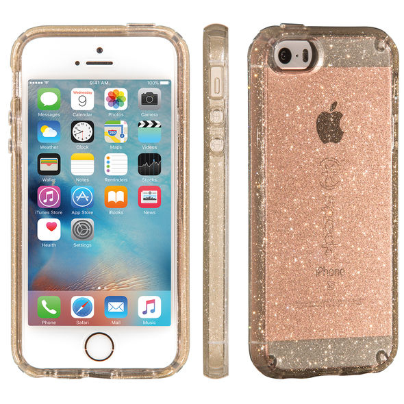 pretty nice 71c52 72944 Speck CandyShell Glitter Case for Apple iPhone 5/5S/Se - Gold Glitter