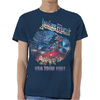 Judas Priest Painkiller Us Tour 91  Mens Navy T-Shirt (X-Large)