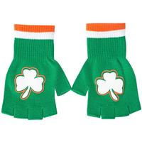 St. Patricks Day Fingerless Shamrock Gloves