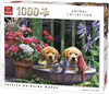 King Puzzle - Puppies Drinking Water Puzzle (1000 Pieces)