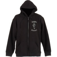 Lemmy Kilmister With Sunglasses Mens Black Zip Hoodie (Small) - Cover