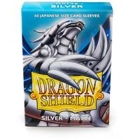 Dragon Shield - Japanese Size Sleeves - Matte Silver (60 Sleeves)