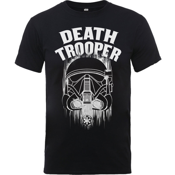 91246c6d Rogue One Death Trooper Boys Black T-Shirt (12 - 13 Years) | Raru