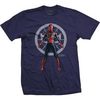 Avengers Infinity War - Spidey Character Mens Navy T-Shirt (Large)