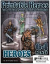ArcKnight - Flat Plastic Minis: Print: Heroes Pack (Role Playing Game)