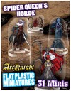 ArcKnight - Flat Plastic Minis: Spider Queen's Horde (Role Playing Game)