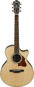 Ibanez AE205JR-OPN AE Series Acoustic Electric Guitar with Bag (Open Pore Natural) - Cover