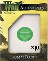 Wyrd Miniatures - Green Translucent Bases - 30mm (10) (Miniatures)