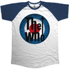 The Who  Vintage Target Short Sleeve Raglan Mens Navy & White T-Shirt (Medium)