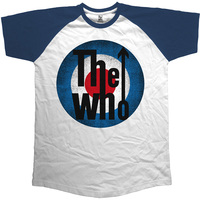 The Who  Vintage Target Short Sleeve Raglan Mens Navy & White T-Shirt (XX-Large) - Cover