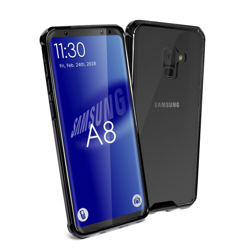 innovative design a74f7 3203f Tuff-Luv Shockproof Transparent Armour Protective Back Cover Case for  Samsung A8 - Clear