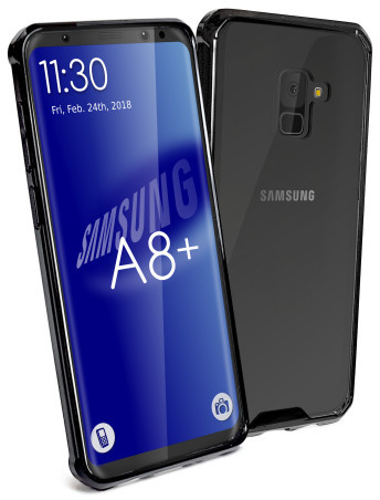 the latest 8c4a3 8bfb7 Tuff-Luv Shockproof Transparent Armour Protective Back Cover Case for  Samsung A8 + Plus - Clear
