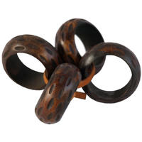 Adesso - Wooden Grooved Napkin Rings (Set of 4)
