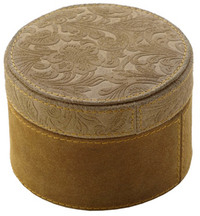 Adesso - Small Suede Round Box - Cover
