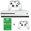 Microsoft - Xbox One S 1TB Console - White + 3 Months Live + Wireless Controller