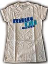 Little Mix Dark Multi Blue Logo Ladies White T-Shirt (Large)
