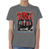 Rush World a Stage Tour 1977 Mens Grey T-Shirt (X-Large)
