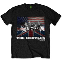 The Beatles Washington Mens Black T-Shirt (Small) - Cover