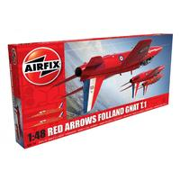 Airfix - 1/48 - Red Arrows Folland Gnat T.1 Aeroplane (Plastic Model Kit)
