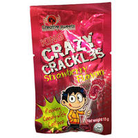 King - Crazy Crackles - Strawberry Popping Candy (15g)
