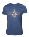 Assassin's Creed Origins - Golden Crest - Mens T-Shirt - Blue (Large)