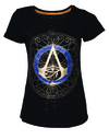 Assassin's Creed Origins - Gold Spaller Logo - Ladies T-Shirt - Black (X-Small)