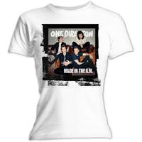 One Direction Made In The A.M. Ladies Skinny White T-Shirt (Large)