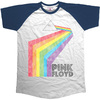 Pink Floyd Prism Arch Short Sleeve Raglan Mens Navy/White T-Shirt (Small)