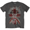 Rolling Stones North American Tour 1981 Mens Charcoal T-Shirt (X-Large)