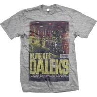 Studio Canal Dr Who & The Daleks Mens Grey T-Shirt (Small)
