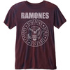 Ramones Presidential Seal Mens Burnout Burgundy T-Shirt (X-Small)