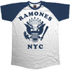 Ramones Retro Eagle Mens Navy/White T-Shirt (Large)