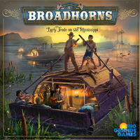 Broadhorns: Early Trade on the Mississippi (Board Game) - Cover