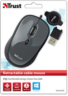 Trust - Yvi Retractable Cable Mouse - Black