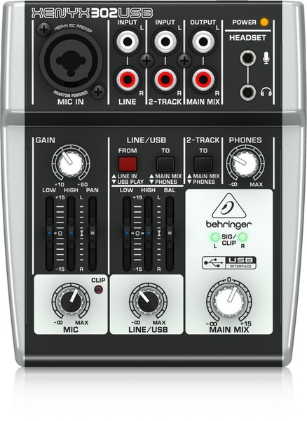 Behringer 302USB Xynyx 2-Channel Mixer with USB