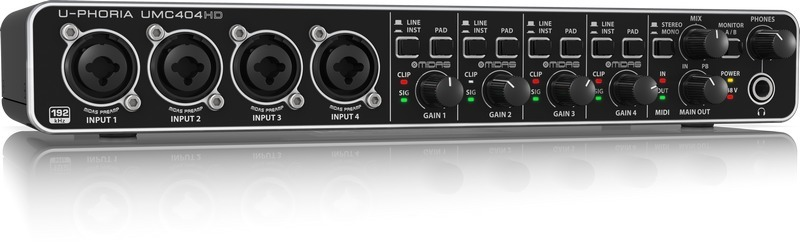 Behringer UMC404HD U-Phoria Audiophile 4-Channel USB Audio Interface