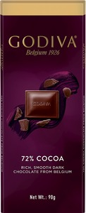 Godiva - 72% Cocoa Belgian Dark Chocolate Tablet (90g) - Cover