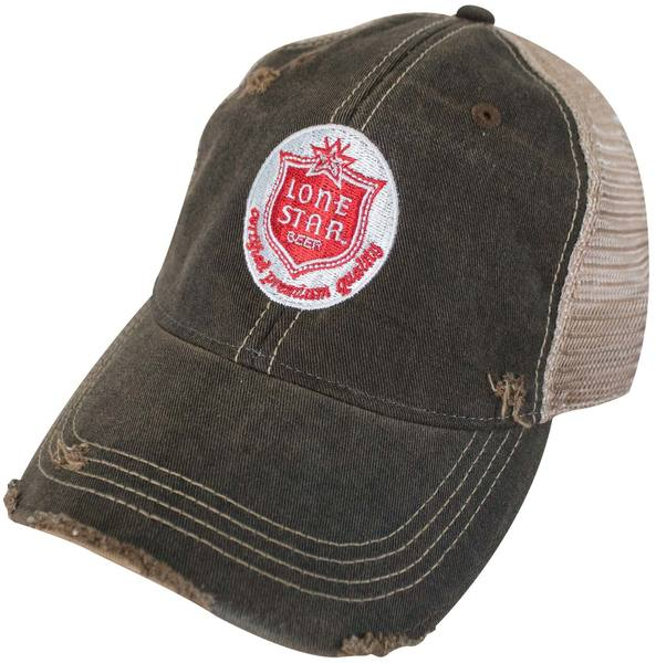 4ca57aa4 Lone Star - Patch Faded Retro Brand Men's Brown Trucker Hat - Cover