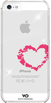 White Diamonds Lipstick Cover for Apple iPhone 5 and 5s - Heart