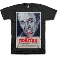 Studio Canal Scars of Dracula Mens Black T-Shirt (Small)