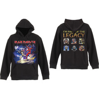 Iron Maiden Legacy Beast Fight Mens Black Pullover Hoodie (Small) - Cover