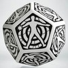 Q-Workshop - D12 Hit Location Dice - White & Black