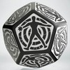 Q-Workshop - D12 Hit Location Dice - Black &White