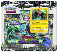 Pokémon TCG - Sun & Moon: Celestial Storm Three-Booster Blister (Trading Card Game) - Cover