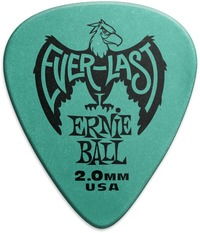 Ernie Ball Everlast 2.0mm Guitar Plectrum (Teal) - Cover